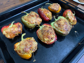 Stuffed capsicum – fancy but easy baking recipe (cook to impress)