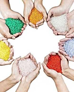 Plastic grains