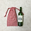 Thumbnail: smallbags vichy rouge & vert, bouteille & pain / cotton bottle or bread bags