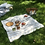 Thumbnail: kit pique-nique = nappe & 3 smallbags / picnic kit, tablecloth & 3 bags