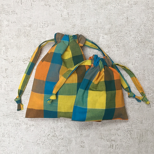 smallbags en madras - 2 tailles / cotton sheet bags - 2 sizes