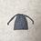 Thumbnail: smallbags voile mini vichy noir et blanc / black & white cotton veil bags
