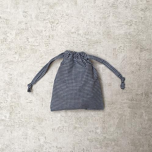 smallbags voile mini vichy noir et blanc / black & white cotton veil bags