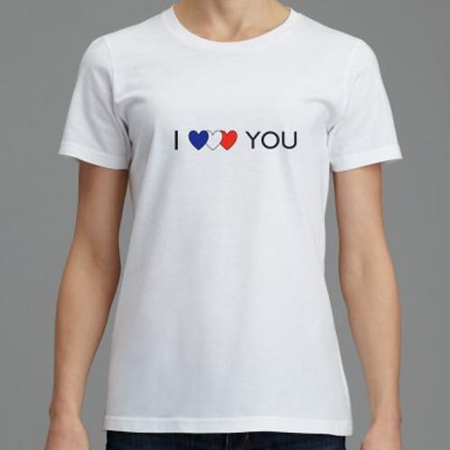 """t shirt femme """"je t'aime"""""""