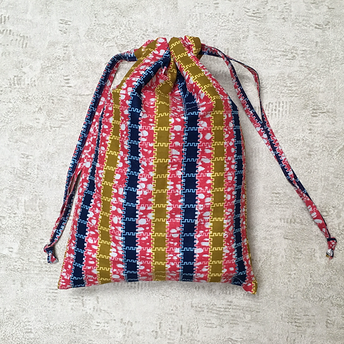 sac en wax africain / unique african coton wax beach bag