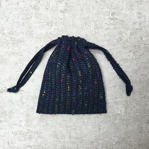 smallbag unique en lainage bleu / unique bag woolen fabric