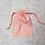 Thumbnail: smallbag unique toile drap / unique orange stripped cotton bag