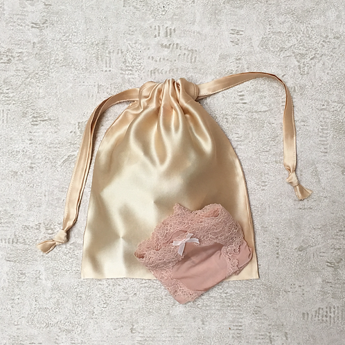 smallbag unique soie poudrée / unique silk bag