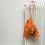 Thumbnail: smallbags halloween voile de coton orange   / orange cotton veil bags