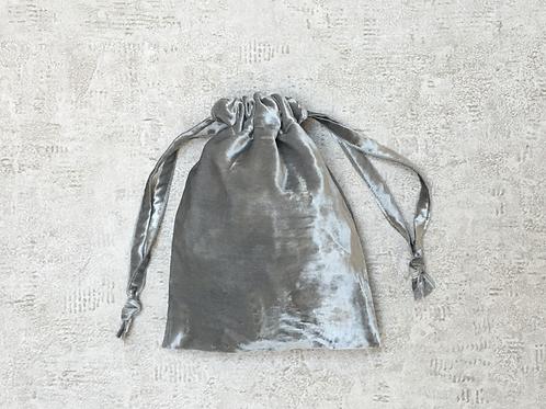 smallbags velours lisse gris argent / silver grey velvet bags