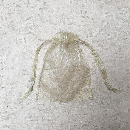 smallbags voile imprimé doré  / golden printed veil bags