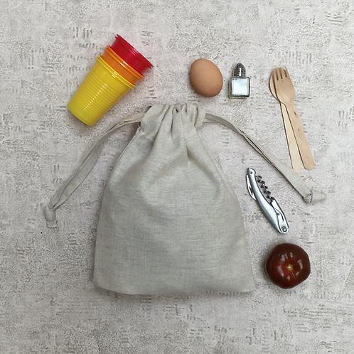kit 2 smallbags toile métis - 2 tailles - lin et coton / kit 2 bags