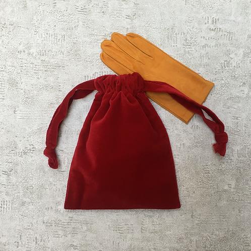 smallbags velours de coton lisse - 4 couleurs / velvet bags - 4 color