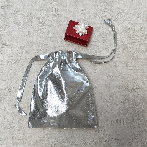 smallbags voile argent - 3 tailles   / silver veil bags - 3 sizes