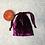 Thumbnail: smallbags velours lisse prune / light purple velvet bag