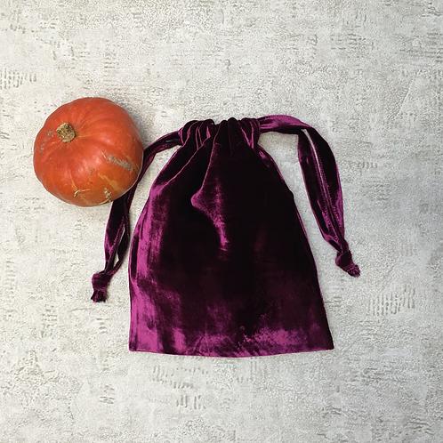 smallbags velours lisse prune / light purple velvet bag
