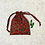 Thumbnail: smallbags rouges imprimés houx / christmas printed cotton bags