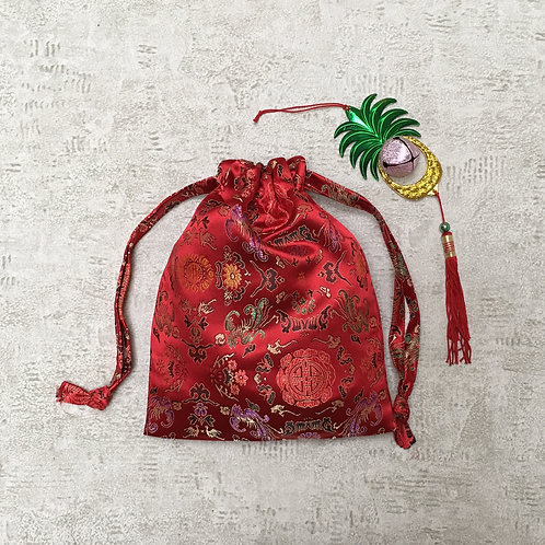 smallbags tissu chinois rouge - 2 tailles / red chinese bags - 2 sizes