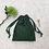 Thumbnail: smallbag unique dentelle bronze doublé vert / unique lace and cotton veil bag
