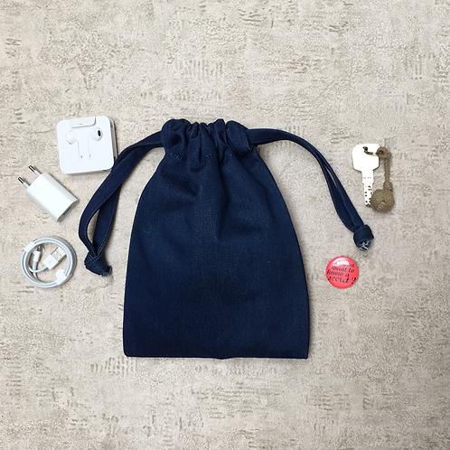 smallbags denim bleu medium - 2 tailles / medium blue deni mbags - 2 sizes