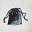 Thumbnail: smallbags en velourslisse gris reflets rouges / grey relfecting red velvet bag