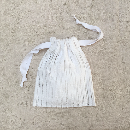 smallbag recyclé crochet de coton 3 tailles / recycled white cotton hook 3 sizes