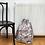 Thumbnail: sac à linge géant toile imprimée satinée / printed cotton satin giant bag