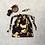 Thumbnail: smallbag unique violet imprimé or  / unique purple and gold bag