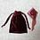 Thumbnail: smallbags velours lisse changeant / blue velvet reflecting red bag
