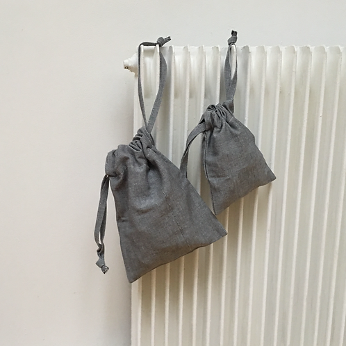 kit 2 smallbags gris clair / grey cotton 2 bags kit