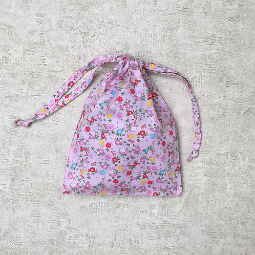 kit 3 smallbags / 3 tailles - roses fleuris / 3 sizes - flower printed