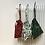 Thumbnail: smallbags verts imprimés houx / christmas printed cotton bags