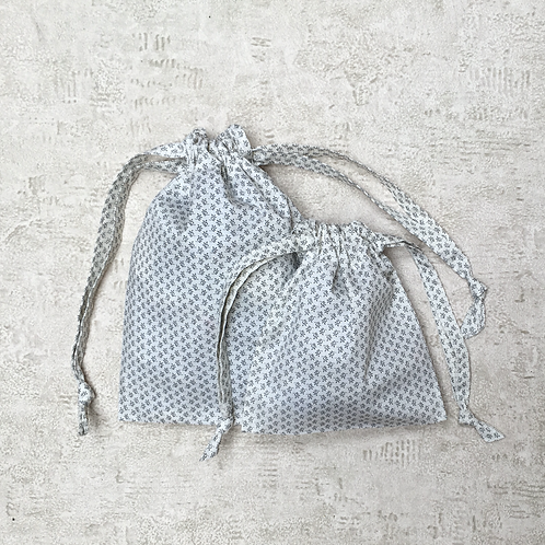smallbags imprimés petit feuillage  - 2 tailles / printed bags - 2 sizes