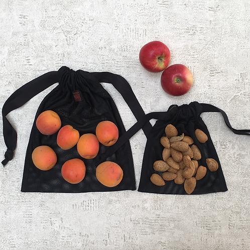 smallbags en filet noir - 2 tailles / black net bags - 2 sizes