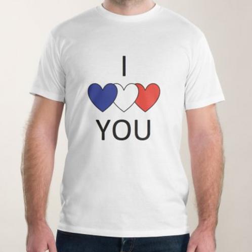 """t shirt homme """"je t'aime"""""""