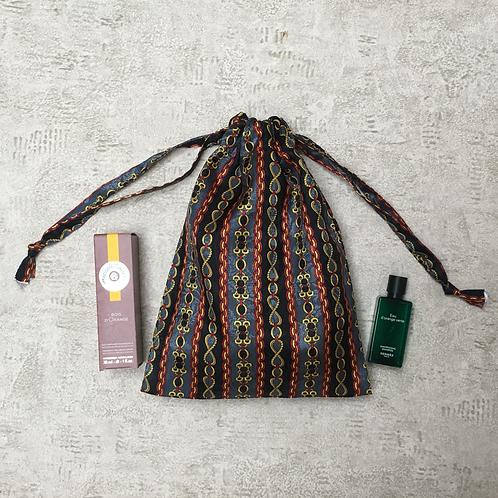 smallbag unique soie tons gris / unique silk bag