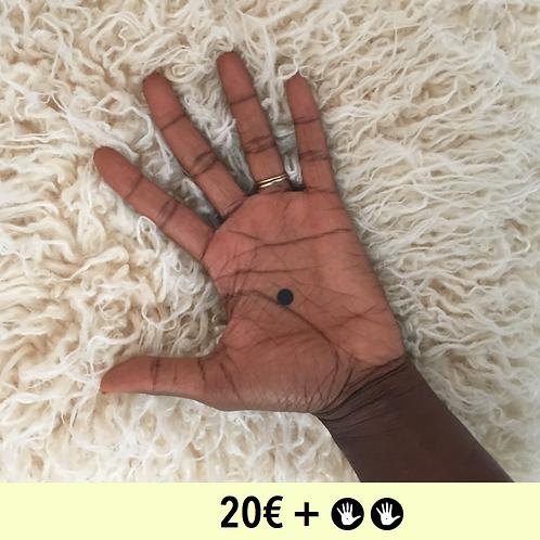 DON 20€ + 2 BADGES - diamètre 25mm / PIN BADGE x2 - diameter 0,98 in