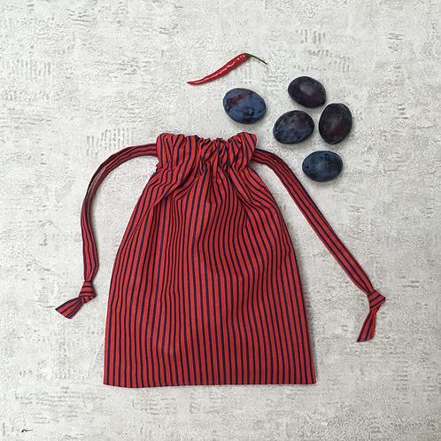 smallbag unique rayé rouge et bleu  / red and blue striped bag