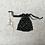 Thumbnail: smallbags voile noir motifs relief doré et velours / black and gold veil bag