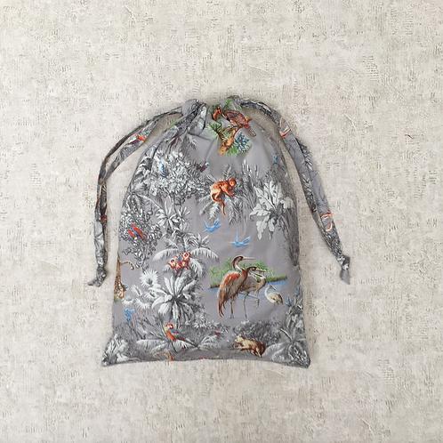 sac à linge géant toile imprimée satinée / printed cotton satin giant bag