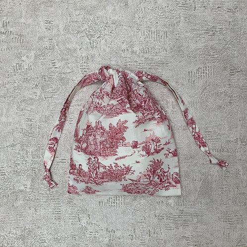 smallbags drap de coton inspiration Toile de Jouy  / cotton sheet bag - 3 sizes