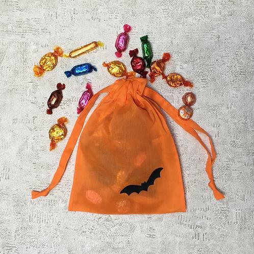 smallbags halloween voile de coton orange   / orange cotton veil bags