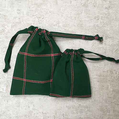 kit unique 2 smallbags toile scandinave / unique scandinavian fabric 2bags kit
