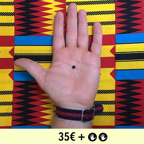 DON 35€ + 2 BADGES - diamètre 25mm / PIN BADGE x2 - diameter 0,98 in