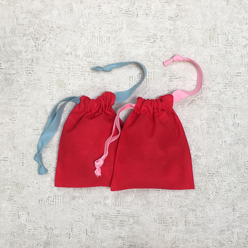 smallbags rouges lanières roses ou ciel / red smallbags pink or blue thongs