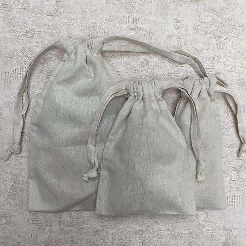 kit unique 3 smallbags  lin et coton / unique kit 3 linen & cotton bags