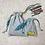 Thumbnail: kit unique 2 smallbags poissons fond gris / unique grey cotton 2 bags kit