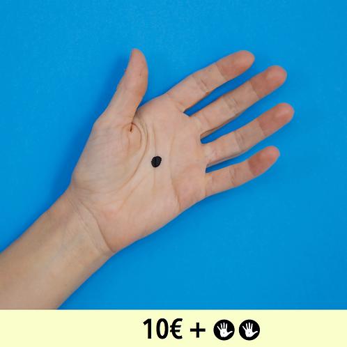 DON 10€ + 2 BADGES - diamètre 25mm / PIN BADGE x2 - diameter 0,98 in