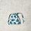 Thumbnail: smallbags coton imprimé plumes bleue - 2 tailles / printed cotton bags - 2 sizes