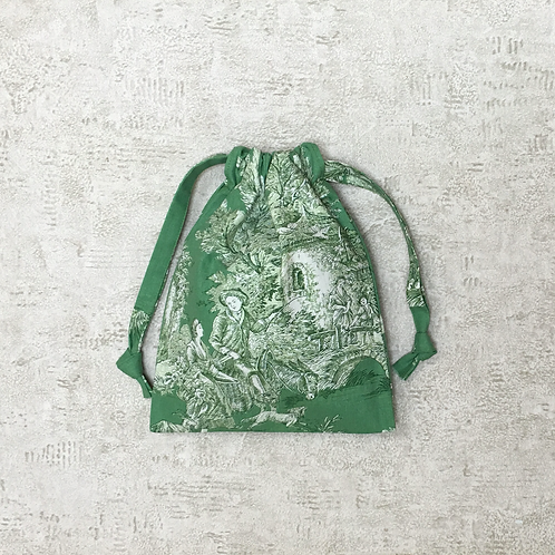 smallbags Toile de Jouy - 3 tailles / real french Toile de Jouy - 3 sizes
